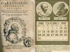 Calendario giuliano Vs calendario gregoriano