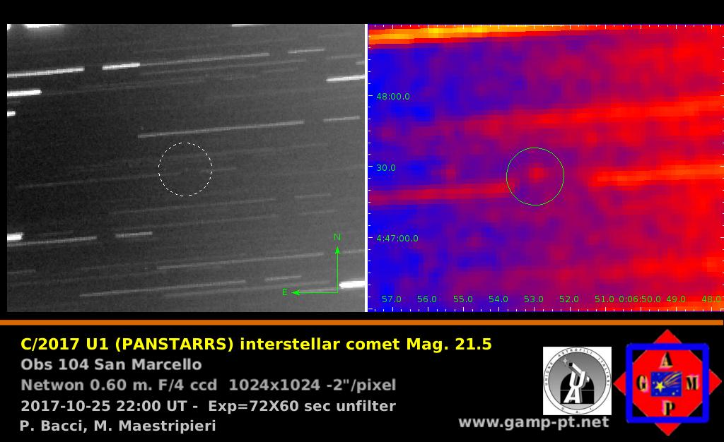 cometa interstellare aggiornamento