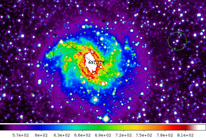 galassia falsi colori