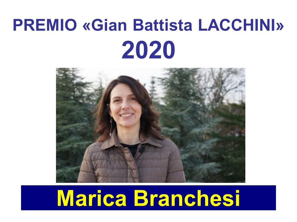 """Marica Branchesi - Premio Lacchini UAI 2020 - Congresso via """"web conference"""""""